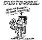 Le Sarkothon et l'argent des Français - Dessin du jour de Lacombe