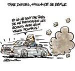 Taxe Diesel : Hollande renonce à la fiscalité écologique - Dessin de Lacombe