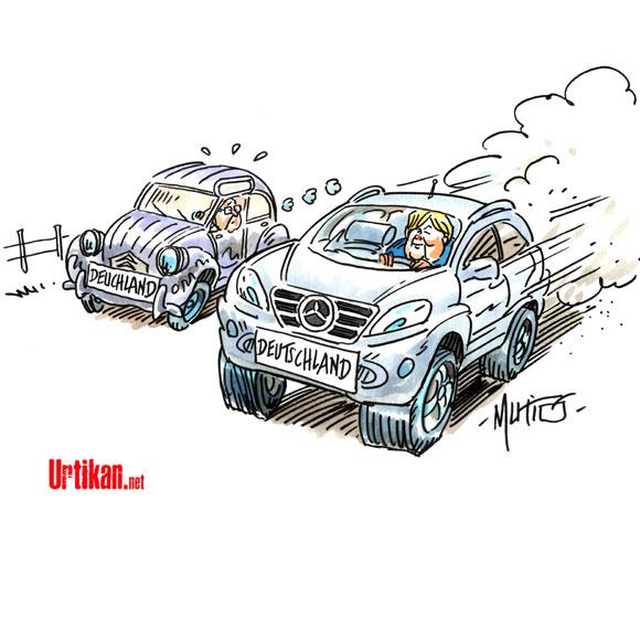 Le modèle allemand - Dessin du jour de Mutio