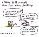 Soulagement pour Nicolas Sarkozy après le non-lieu - Dessin du Jour de Chimulus