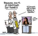 """Ondes des téléphones portables : """"pas d'impact avéré sur la santé"""" - Dessin de Deligne"""