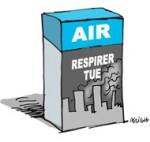 """La pollution de l'air extérieur est """"cancérigène"""" selon l'OMS - Dessin de Deligne"""
