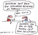 Leonarda : Hollande prend la parole - Dessin de Chimulus