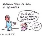 Affaire Leonarda : désaccord et incompréhension après l'offre de Hollande - Dessin de Chimulus