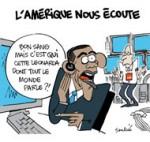 Espionnage de la NSA en France: l'embarras convenu des USA - Dessin de Soulcié
