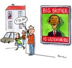 Big Brother is listening you - Dessin de Cambon
