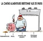 Retour au porc - Dessin de Deligne