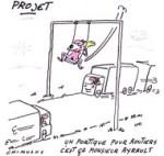 Recyclage écologique pour les portiques écotaxe - Dessin de Chimulus