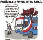 L'équipe de France fera bien le voyage à la Coupe du Monde au Brésil - Dessin de Lasserpe