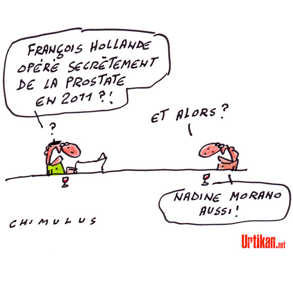 François Hollande a été opéré de la prostate en 2011 : le débat sur la santé des présidents est relancé - Dessin de Chimulus
