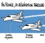 Hommage à Mandela : Hollande-Sarkozy, à chacun son Falcon - Dessin de Deligne