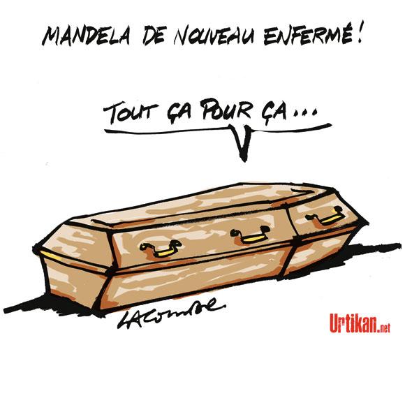 Nelson Mandela sera inhumé dimanche - Dessin de Lacombe