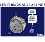 La Chine devient le troisième pays à explorer la Lune - Dessin de Deligne