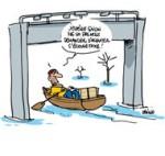 En Bretagne, les inondations jouent les prolongations - Dessin de Deligne