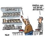 Nouveau scandale alimentaire - Dessin de Deligne