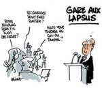 Conférence de presse de Hollande : quelle question ? - Dessin de Deligne