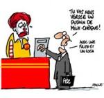 Mc Donald's soupçonné d'évasion fiscale à hauteur de 2,2 milliards d'euros - Dessin de Deligne