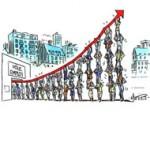 Inversion de la courbe du chômage : le pari perdu de François Hollande - Dessin de Mutio
