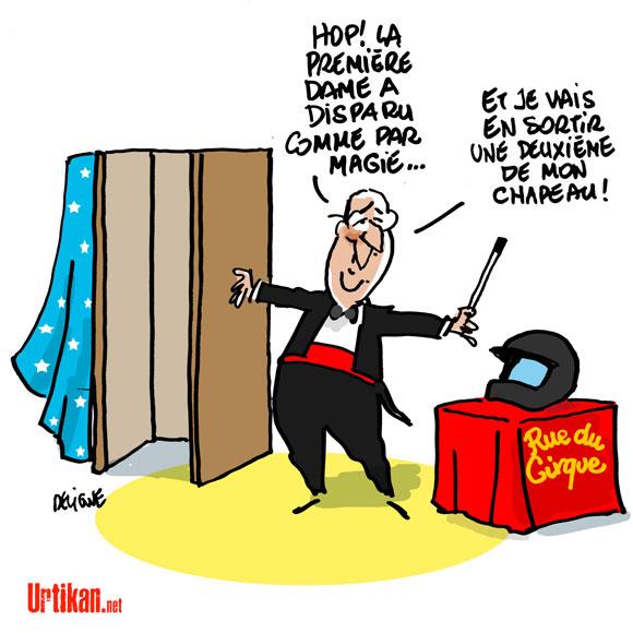 Hollande : le changement, c'est dans la vie privée - Dessin de Deligne