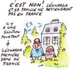 La justice s'oppose au retour en France de la famille de Leonarda - Dessin de Chimulus