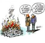 La France détruit trois tonnes d'ivoire illicite - Dessin de Mutio