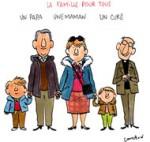 Une famille pour tous - Dessin de Cambon