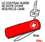 Les Suisses votent contre «l'immigration de masse» - Dessin de Deligne
