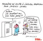 Jacques Chirac hospitalisé quelques heures lundi soir - Dessin de Chimulus
