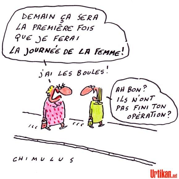 Journée de la femme : 90 ans de lutte - Dessin de Chimulus