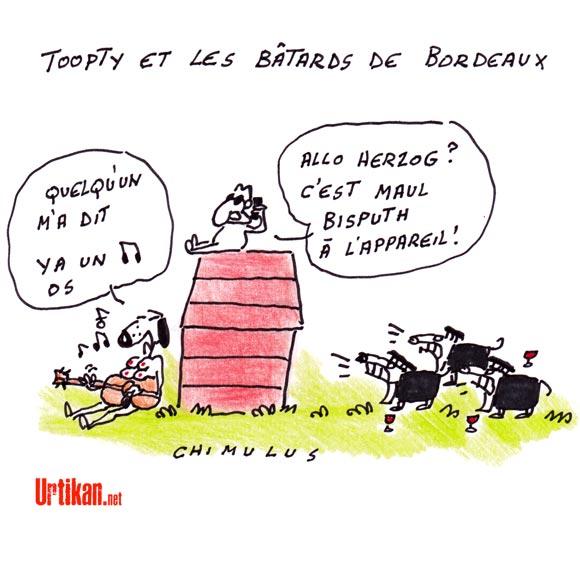 """Quand Sarkozy et Herzog évoquent """"ces bâtards"""" de juges - Dessin de Chimulus"""