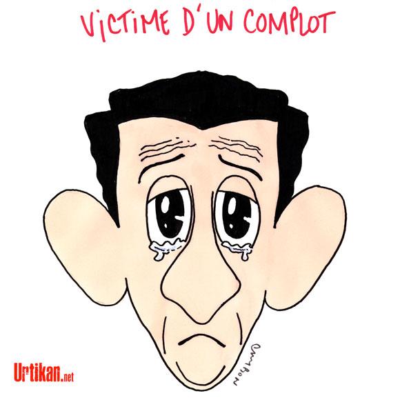 Nicolas Sarkozy sort de son silence - Dessin de Cambon