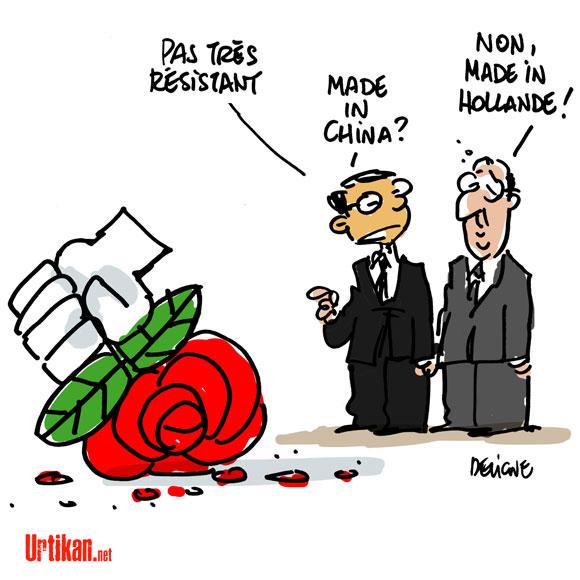 Le président chinois en visite en France - Dessin de Deligne
