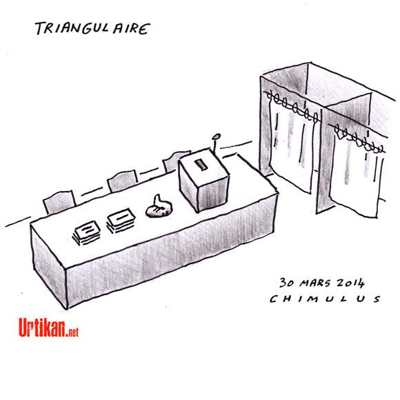 Municipales 2014 : 986 triangulaires, 207 quadrangulaires et 16 pentagulaires au second tour - Dessin de Chimulus