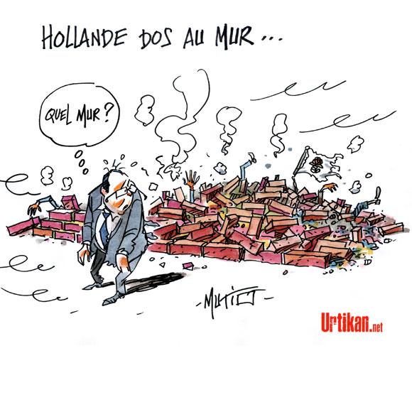 Au lendemain de la défaite aux municipales, Hollande contraint d'agir «vite et fort » - Dessin de Mutio