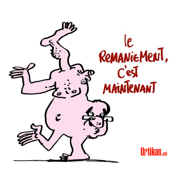 Remaniement : Hollande veut aller vite - Dessin de Jiho