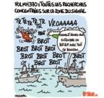 Vol MH370 : les sons détectés proviendraient des boîtes noires - Dessin de Lasserpe
