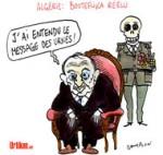 Algérie : les pro-Bouteflika exultent - Dessin de Cambon
