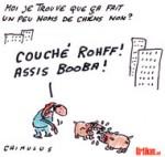 Booba vs Rohff : le clash du rap qui dérape - Dessin de Chimulus