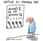 1er mai : Marine Le Pen déclare la guerre à «cette Europe» - Dessin de Chimulus