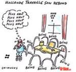 Pour François Hollande, le rebond c'est maintenant - Dessin de Chimulus