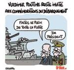 Commémoration du 6 juin : Poutine sera bien présent - Dessin de Lasserpe