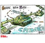 Vladimir Poutine brandit l'arme du gaz - Dessin de Mutio