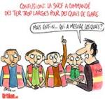 TER : l'incroyable bourde du tandem SNCF-RFF - Dessin de Cambon
