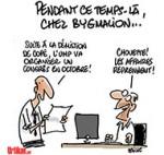 Bygmalion, une société très proche de Copé et de l'UMP - Dessin de Deligne
