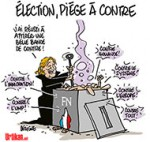 La tambouille électorale de FN - Dessin de Deligne