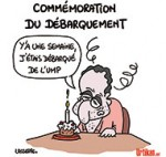 Jean-François Copé et le débarquement - Dessin de Lasserpe