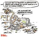 Brésil : du football pour le peuple - Dessin de Lacombe