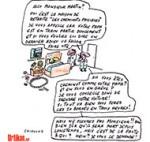 Grève à la SNCF : le trafic encore perturbé - Dessin de Chimulus