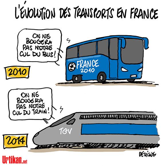 La grève SNCF est reconduite - Dessin de Deligne