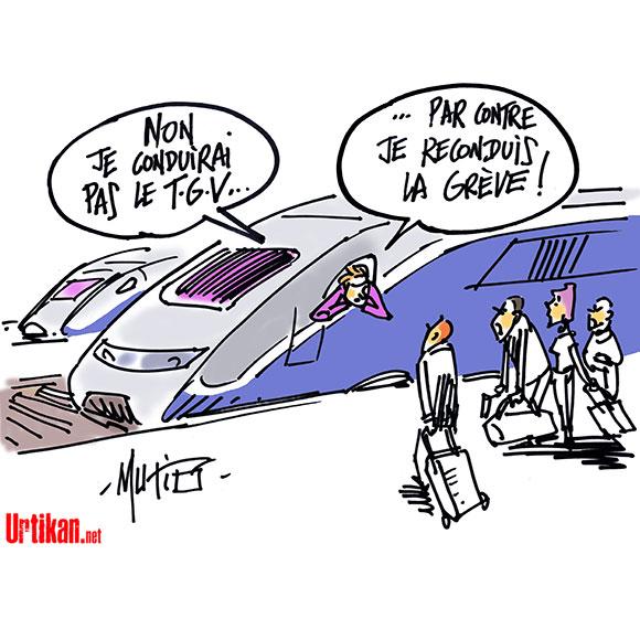 La grève SNCF entame sa 2e semaine - Dessin de Mutio